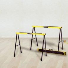 Tréteau pliable jaune métal
