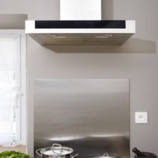 Stainless steel hood background